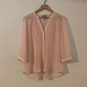 NWOT H&M Sheer Button Down Blouse - Size 10